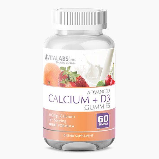 Vitalabs Advanced Calcium and D3 Gummies