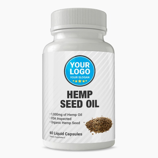 Private Label Hemp Seed Oil Supplement
