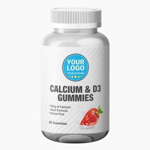 Private Label Calcium and Vitamin D3 Gummies