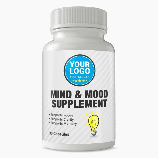 Private Label Mind and Mood Supplement
