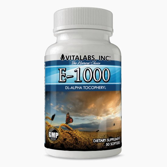 Vitalabs E-1000 Vitamin E Supplement