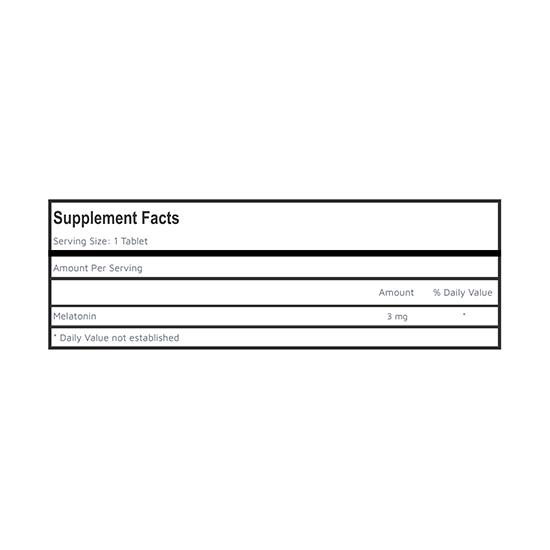 Private Label Melatonin Supplement Facts