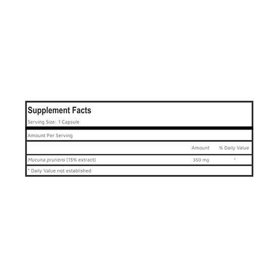 Mucuna Pruriens Supplement Facts