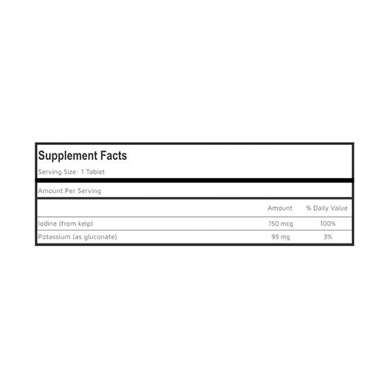 Private Label Potassium Gluconate Supplement Facts
