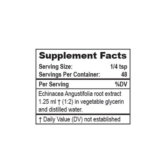Mountain Meadow Herbs Echinacea Angustifolia Supplement Facts