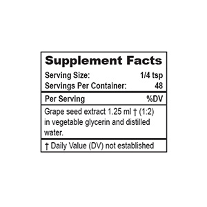 Private Label Grape Seed Extract Supplement Facts