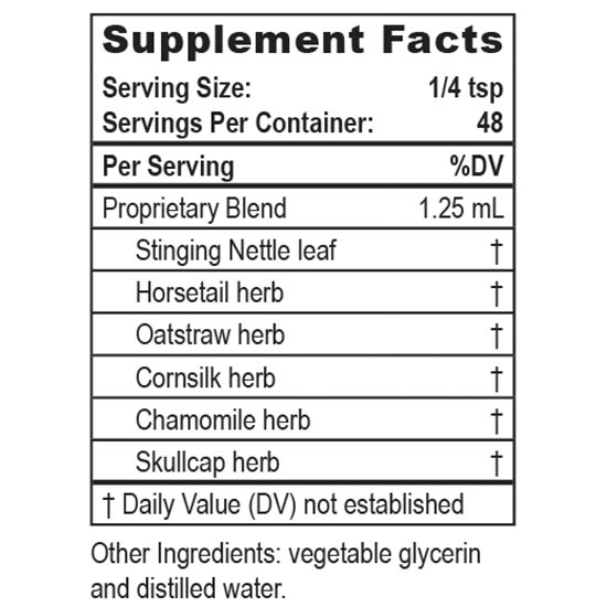Private Label Herbal Calcium Supplement Facts