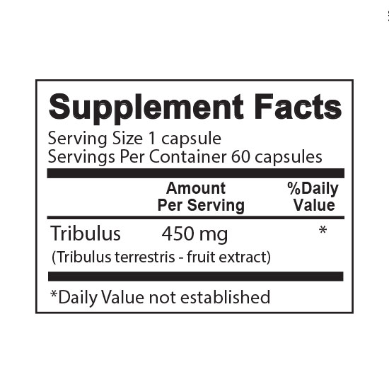 Private Label Tribulus Supplement Facts